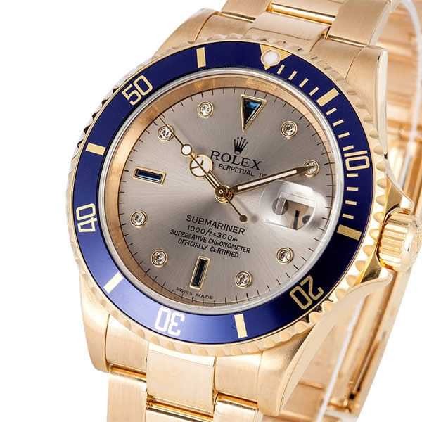 Submariner Replica Gold Plated with fake Diamonds